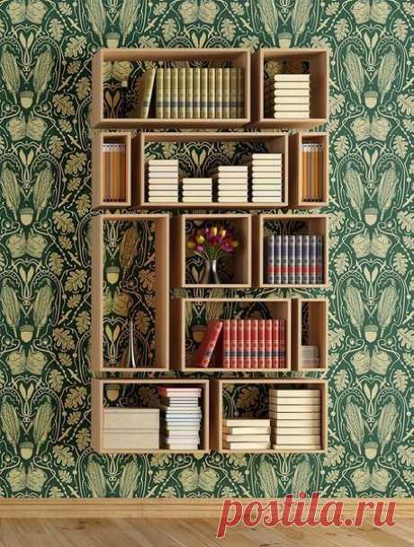 Дизайн маленькой квартиры: 10 крутых настенных полок | дневник архитектора | Яндекс Дзен