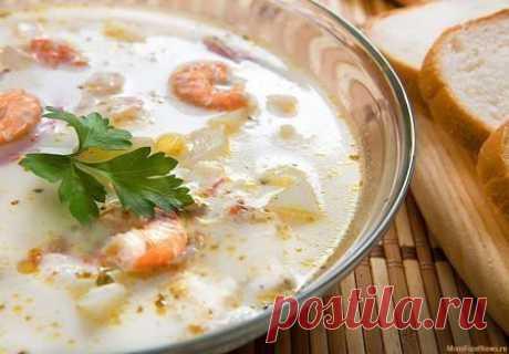 Суп из плавленых сырков с креветками - Простые рецепты Овкусе.ру