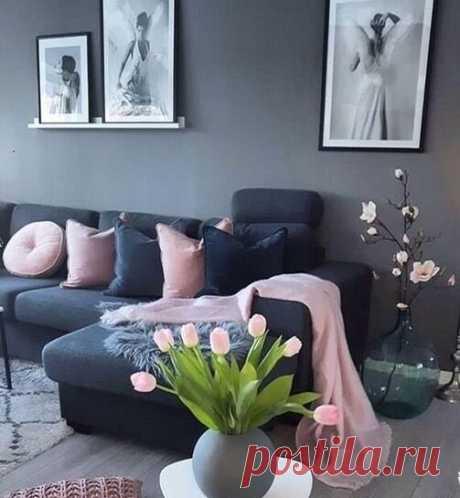 Уютный серый цвет в интерьере + яркие идеи! Мой выбор стиля квартиры... | Дизайнер интерьера & Любитель | Яндекс Дзен
