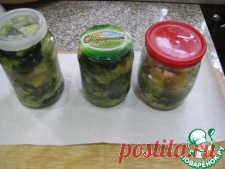 Скорая закуска из маринованных кабачков Кулинарный рецепт