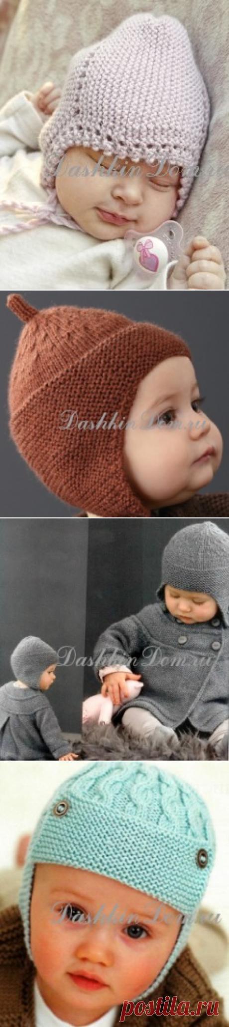 Шапочка для новорожденного спицами (14 моделей с описанием) | Дашкин Дом