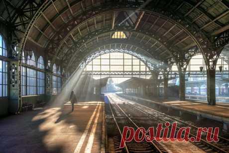 Витебский вокзал в Санкт-Петербурге. Автор фото — Эдуард Гордеев: