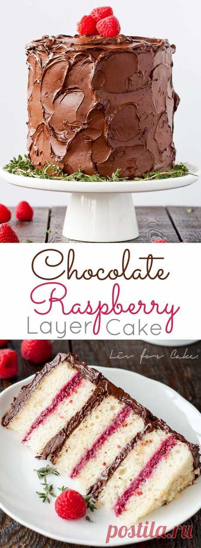 Chocolate Raspberry Cake - Liv for Cake