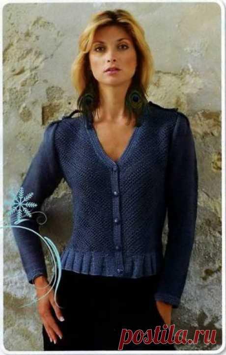 Красивый вязаный женский жакет - 4 Апреля 2010 - Вязание спицами, модели и схемы для вязания на спицах