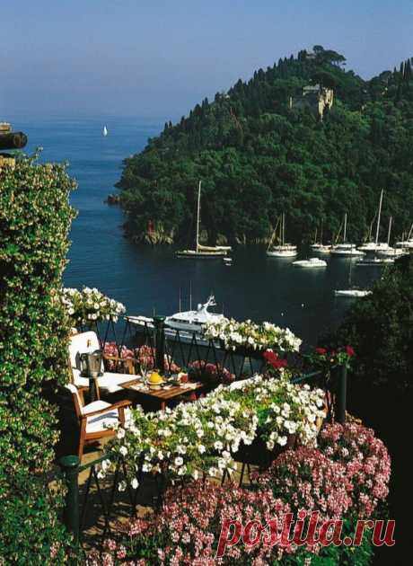 """Having visited here, Maupassant wrote: \""""Never before I felt feeling, similar to when I saw this green gulf in the kingdom of harmony and rest which was so contrasting with all vain concerns of our life\"""". Portofino, Italy"""