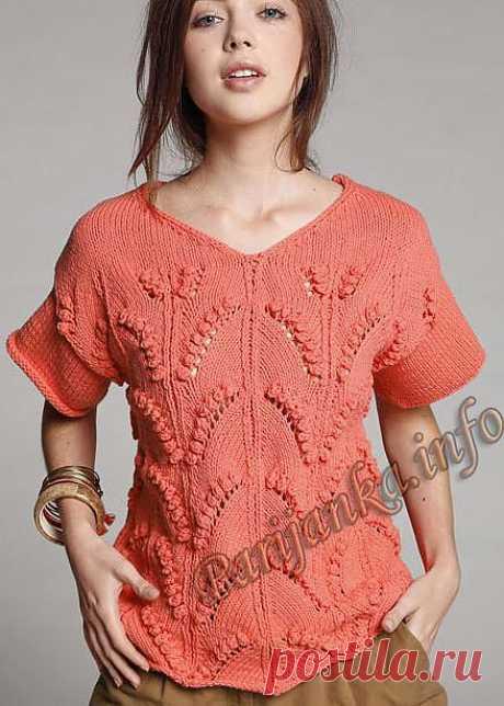 Пуловер (ж) 27*104 Phildar №4026