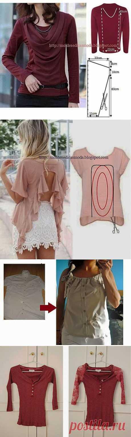 Идеи переделок одежды.