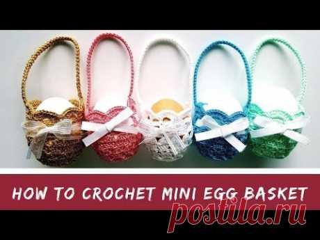 How to crochet mini egg basket