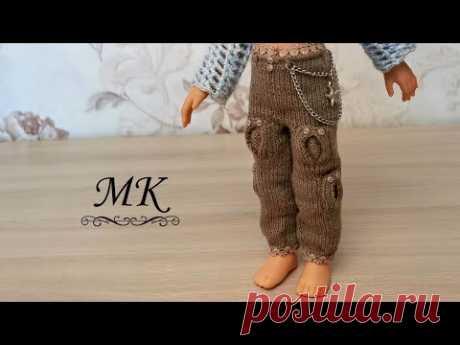 Брюки карго с накладными карманами и цепью для куклы Паола Рейна, мастер-класс