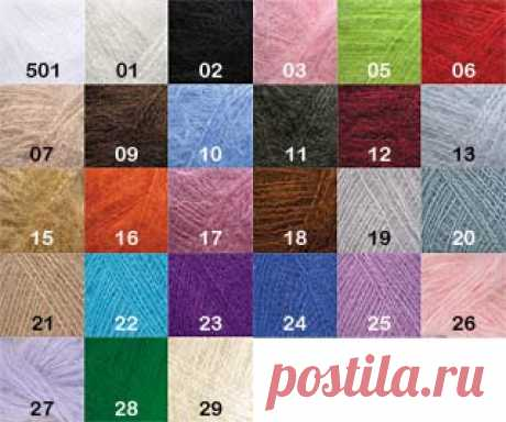 Yarn of Kid Mohair of 70% Kid mohair, 30% polyamide, 230 m, 25 gr. – to buy in the Tow online store at the attractive price