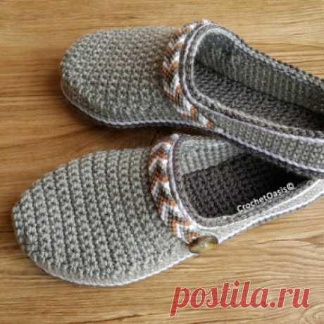 Women's Tribal Clogs / Low-back Shoe crochet pattern - Allcrochetpatterns.net