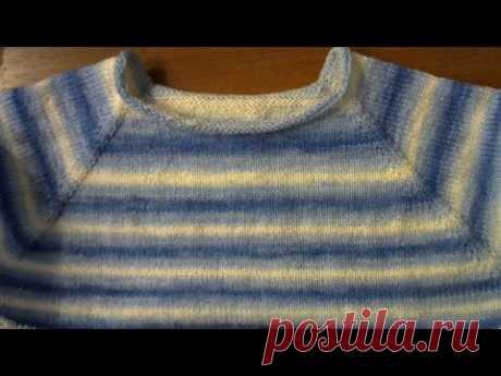 Женский джемпер. Реглан сверху. Часть 1. Росток #мастеркласс #красивыйузор #вязание #knitting мк - YouTube