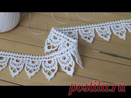 КРУЖЕВО крючком ПРОСТОЕ В ВЯЗАНИИ! мастер-класс КАЙМА вязание крючком Easy to Crochet Lace pattern