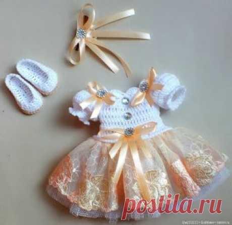 Нарядное платье для паолочки / Одежда для кукол / Шопик. Продать купить куклу / Бэйбики. Куклы фото. Одежда для кукол
