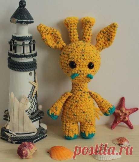 Жирафик амигуруми: мастер-класс игрушки крючком