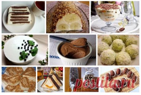 Подборка из 10 десертов без выпечки для праздничного стола