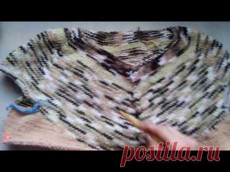 Кокетка вязание углом по кругу ОБЗОР