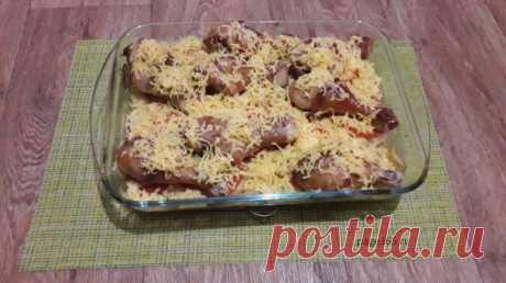 Куриные голени в духовке с картошкой - самый вкусный рецепт