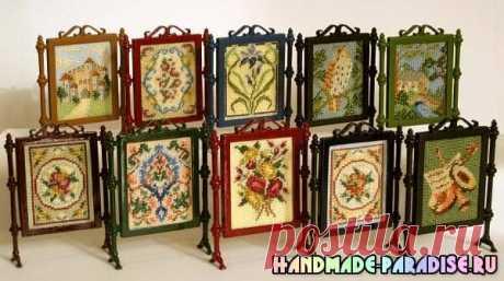 Миниатюрная вышивка. Схемы вышивки для саше - Handmade-Paradise