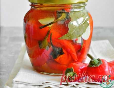 Маринованный острый перец с медом – кулинарный рецепт