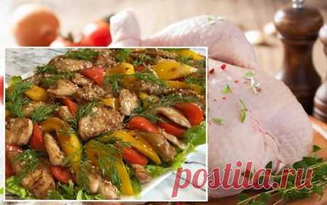 Chicken warm salad