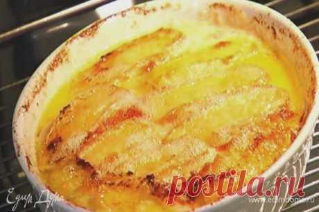 Гратен из картофеля с сыром , рецепт с ингредиентами: картофель, сыр бри, сыр твердый