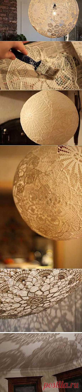 Как легко сделать кружевную лампу - Учимся Делать Все Сами