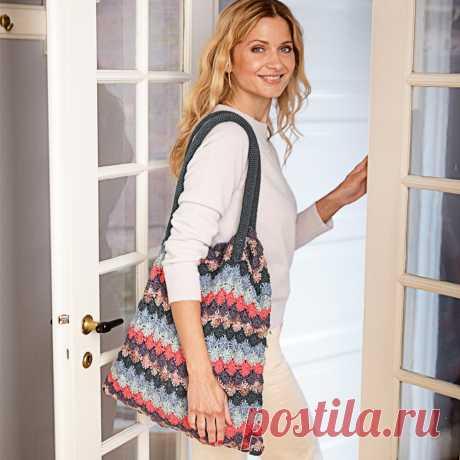 Цветная сумка крючком. / BurdaStyle.ru