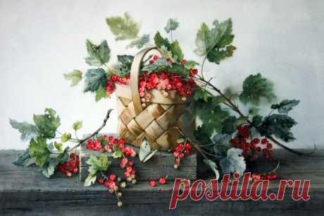 Схема вышивки «grosellas en la cesta» - Вышивка крестом