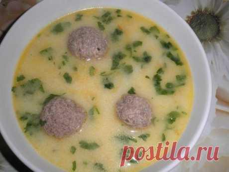 Как приготовить сырный суп с фрикадельками - рецепт, ингридиенты и фотографии
