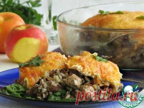 Рис с куриной печенью и яблоками
