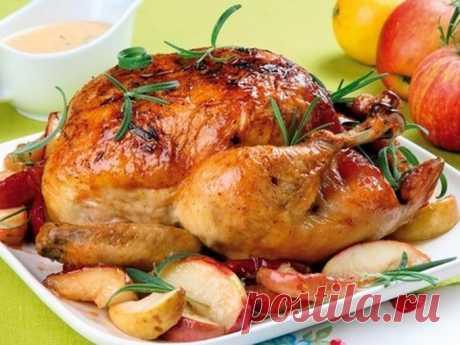 Рецепт курица запеченная в духовке целиком - Вторые блюда - Smak