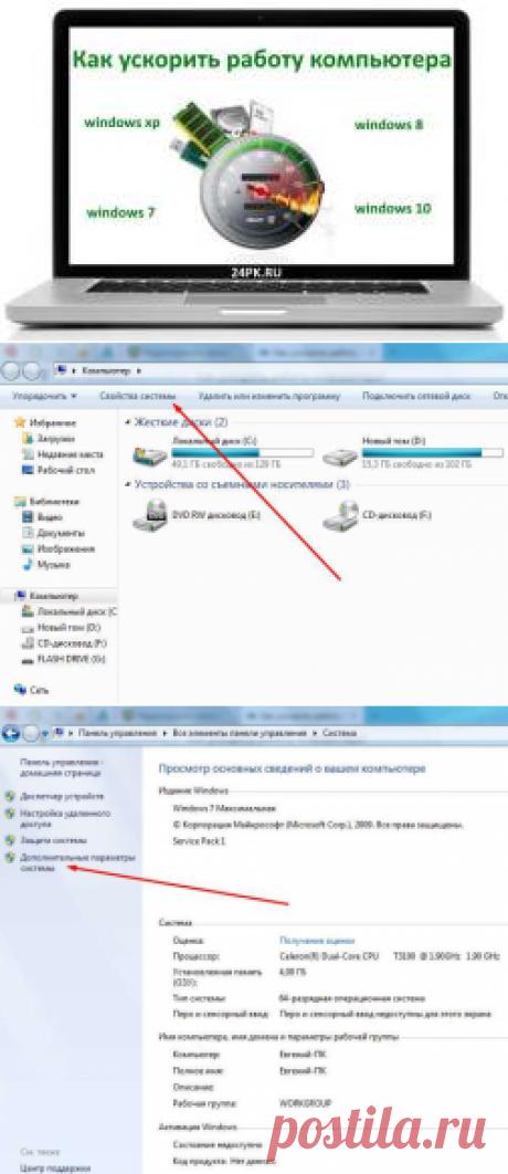 Как ускорить работу компьютера windows 7,8,10? Легко!