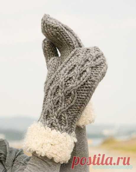 Красивое вязание | Вязаные варежки Drops.