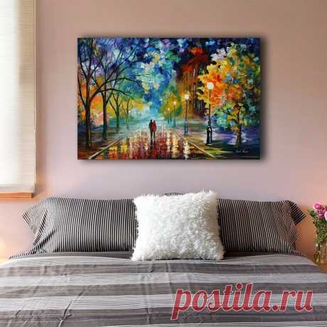 Romantic Night Stretched Canvas Prints Wall Art Home Decor Framed Painting V | eBay