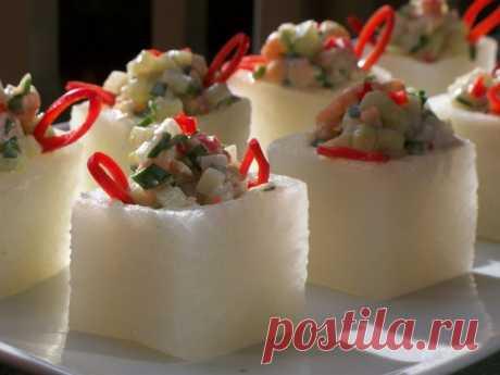 Салат новогодний с редисом и креветками !!! – пошаговый рецепт с фотографиями