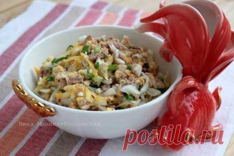 Бесподобный салат с печенью трески — вкусно и быстро! - Fav0rit77.ru Ингредиенты: печень трески — 1 банка яйца — 3 штуки сыр полутвердый...