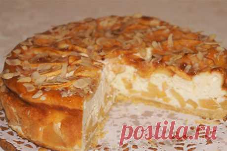 Яблочный пирог с творожным суфле Стряпуха