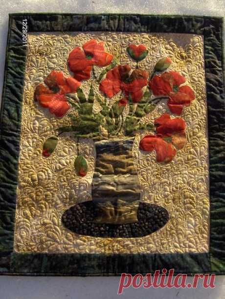Poppy Quilt | Raw edge applique quilt using a Laundry basket… | Flickr