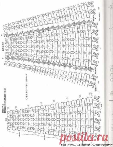 Подборка схем для вязаных юбок