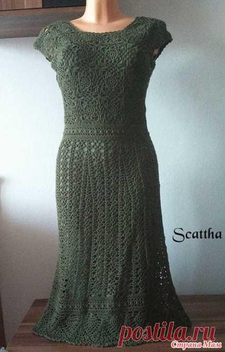 Зеленое платье Моя новая работа, пряжа Ализе Дива, крючок но. 2, 5,5 мотков. Вяжу сейчас подобные из пряжи Белла в фиолетобом цвєту