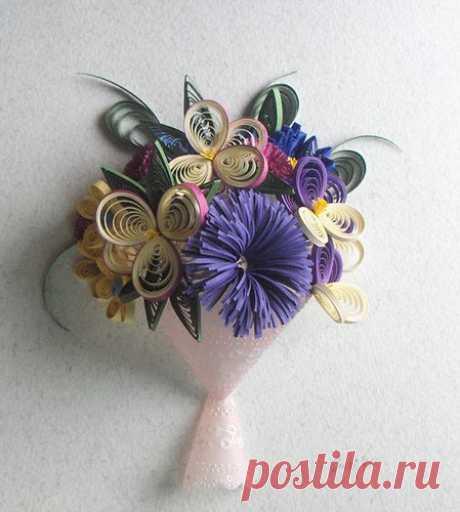 «оригинальный букет цветов квиллинг» — карточка пользователя nevgamonnaya.s в Яндекс.Коллекциях
