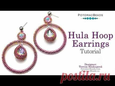 Hula Hoop Earrings- DIY Jewelry Making Tutorial by PotomacBeads
