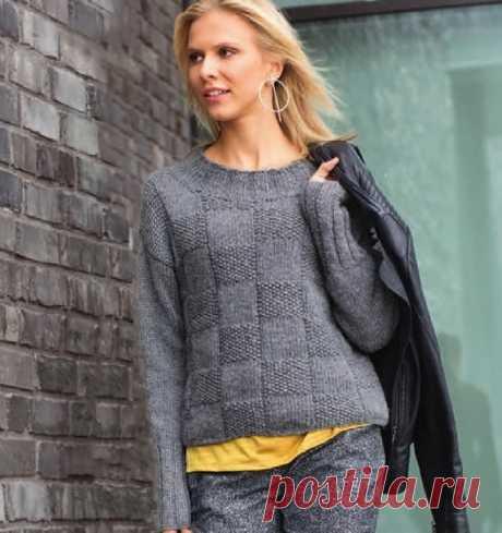 Серый джемпер для стильной и практичной