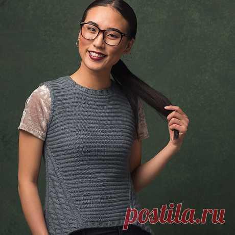 "Жилет спицами ""Marstrand Vest"" by Irina Anikeeva"