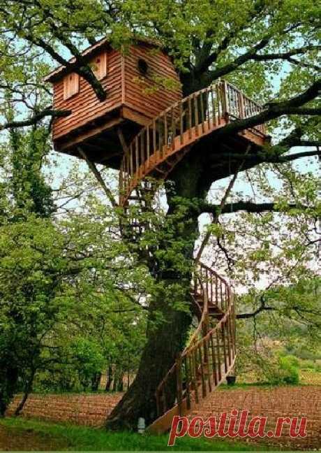 Кажды в детстве мечтает вот о таком домике