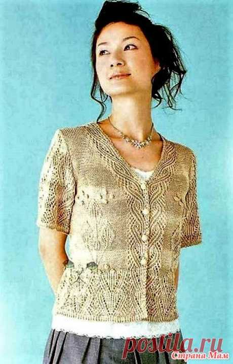 Summer jacket spokes. - KNITTED FASHION + FOR NOT MODEL LADIES - the Country of Mothers