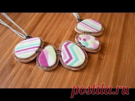 [TUTO] Collier Oeufs Pâques Colorés - Polymer Clay Easter Eggs