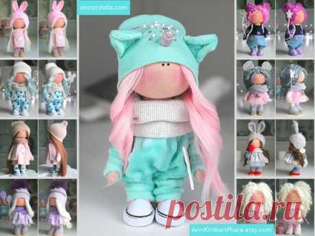 Interior Tilda Doll Fabric Art Doll Soft Cloth Doll | Etsy Hello, dear visitors!  This is handmade soft doll created by Master Lyuba (Tula, Russia). Doll is made by Order. Order processing time is 3-4 days.  All dolls on the photo are made by master Lyuba. You can find them in our shop using masters name: