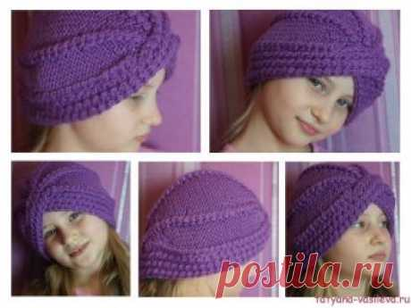 Knitted turban (step-by-step master class)